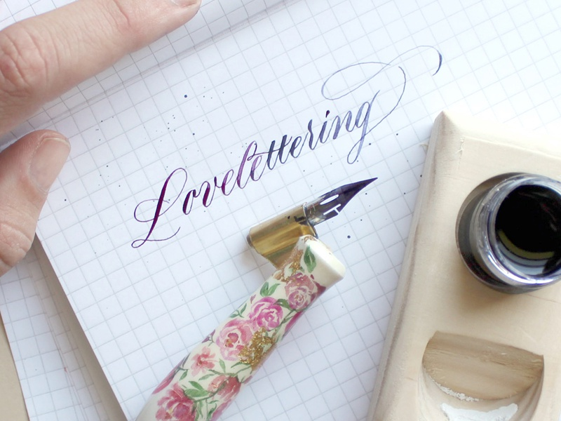 Watercolor Ombre Calligraphy pen typography lettering ombre watercolor calligraphy