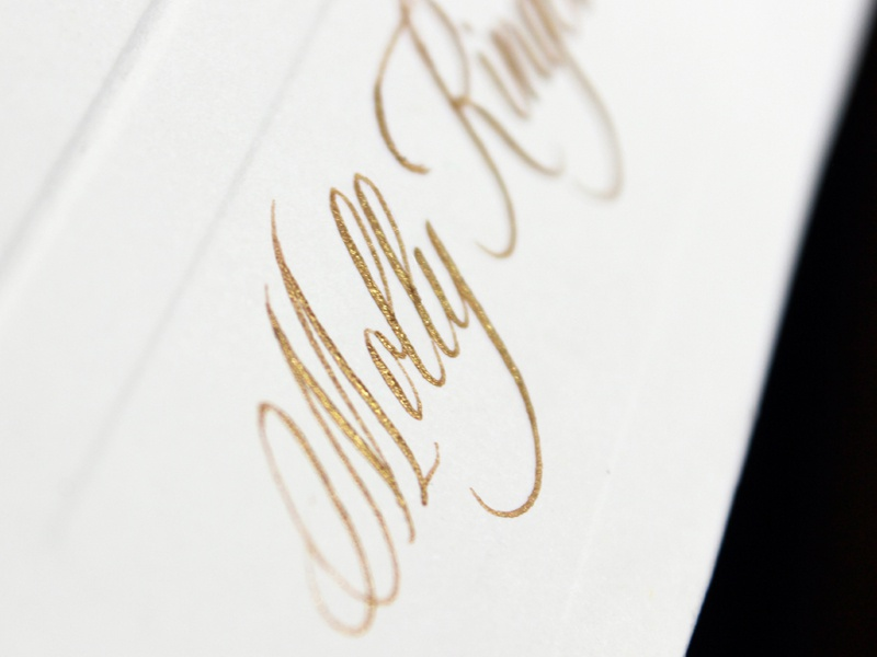 Gold Copperplate Calligraphy typography lettering copperplate calligraphy