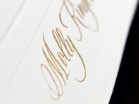 Gold Copperplate Calligraphy