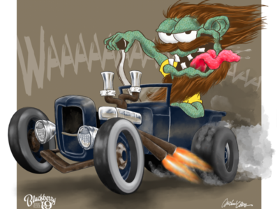 Ratrod Cartoon Rebound illustration cartoon