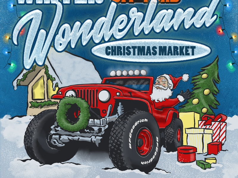 Christmas Jeep.Jeep Christmas 2018 By Michael Clanton On Dribbble