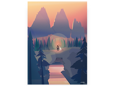 Lovely Places #2 far cry game art fan art digital art vector nature illustration game drawing forest brushwork
