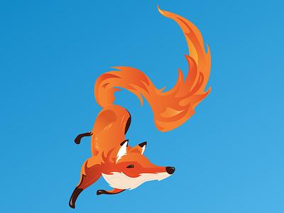 Firefox. flames fire fox firefox