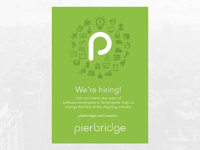 Pierbridge Recruitment Poster avenir poster shipping careers jobs hiring recruitment icons green