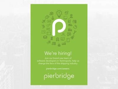 Pierbridge Recruitment Poster