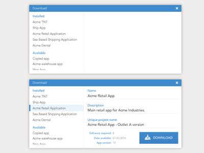 Project Download Popup explorer load download dialogue box popup