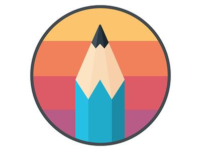 Wittsen Design Co logo circle w pencil logo