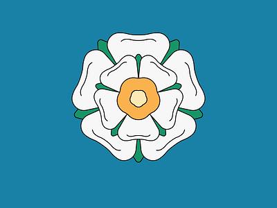 Made in York white rose yorkshire york tudor rose