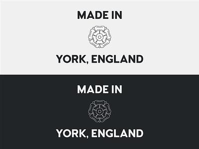 Made in York - Reversed monochrome personal branding tudor rose white rose rose england york made in york made in