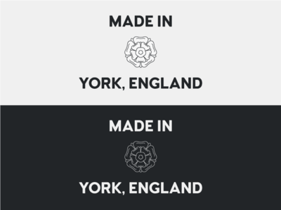 Made in York - Reversed monochrome