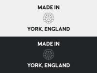 Made in York - Reversed monochrome