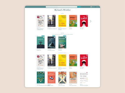 Book Wishlist - Initial homepage design amazon reading list bookshop wishlist books book