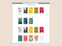 Book Wishlist - Initial homepage design
