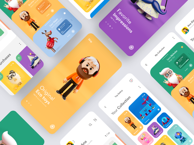 Toys Shop mobile app mobile ecommerce list galery onboarding product design illustration mobile ux mobile ui mobile app home screen homepage profile interface
