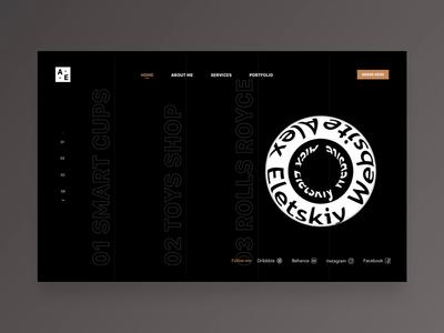 Personal website design web page home page websites product design web brand design branding interface animation interaction smart web site website web design dark mode dark ui homepage