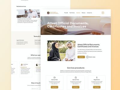 Website for Ministry of Foreign Affairs categories filters webportal webpage official website services service certificate documents website design webdesign website