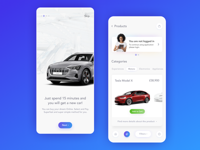 YOU. Future is here. debut mobile application app mobile app product design cart card clean future modern animation design interface minimal motion graphics