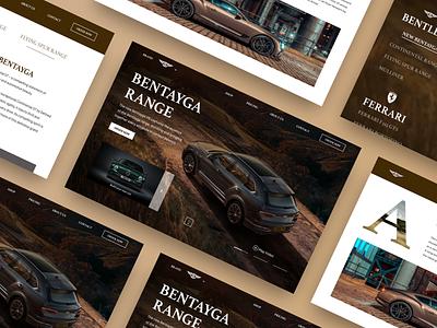 Bentley interaction branding minimal ui web app mobile app interface product design moto car
