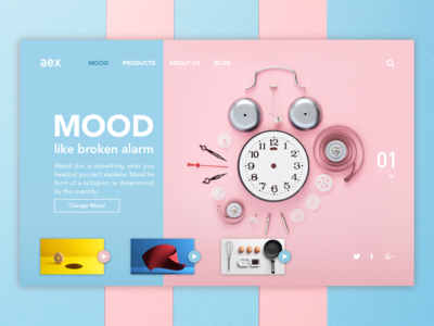 Mood web design web ux ui ux product design product branding minimal main screen main page interface design hero section hero banner mood clock alarm webdesign product design interface ui