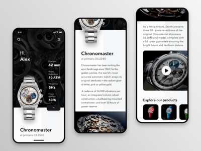 Zenith watches mobile app