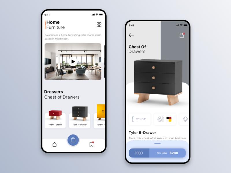 Colorama furniture mobile app