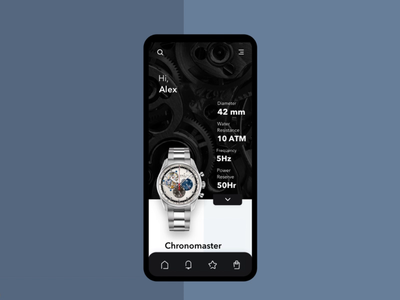 Zenith watches mobile app animation