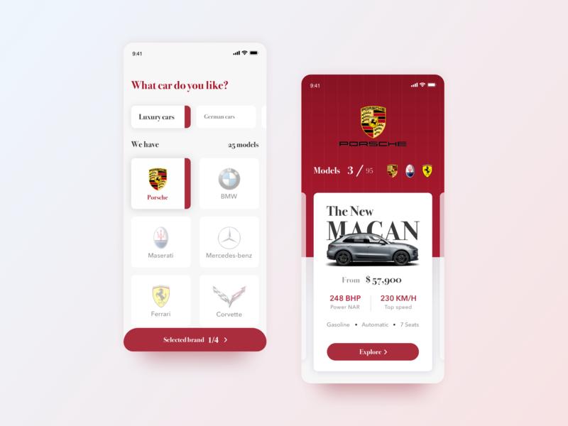 Luxury cars mobile app