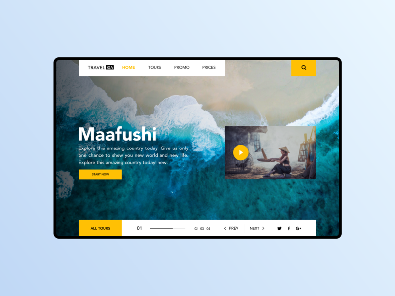 Travel UA website homepage tourism clean travel asia desktop debut hero banner hero section mainpage product page website colors interface minimal product design ux ui