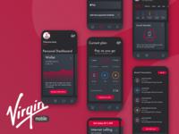 Virgin mobile app design