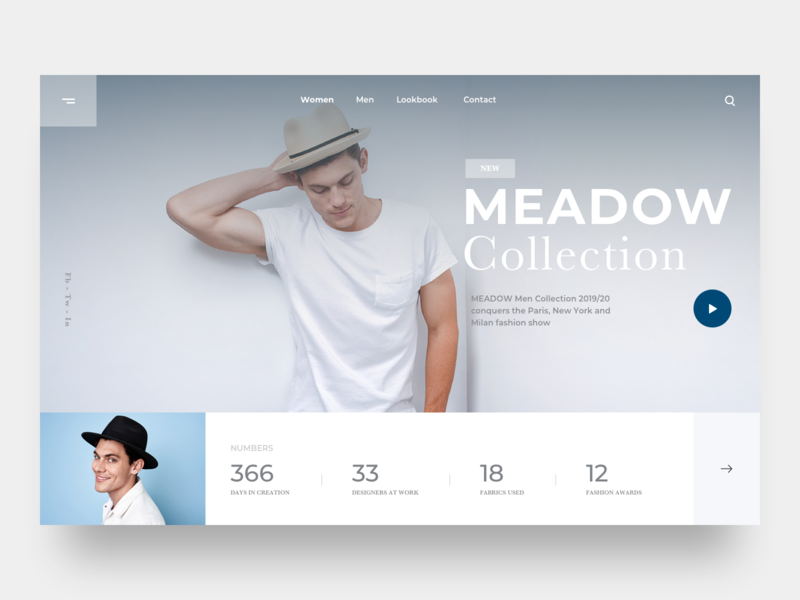 Fashion landing page concept brand shopping model web landing page clean bootstrap debut web design website template product profile minimal product design fashion design concept