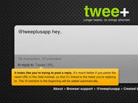 twee+ reply warning
