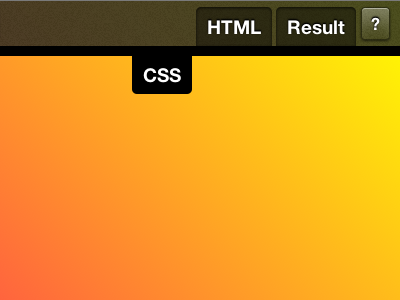 Mystery upcoming project - Top bar UI detail #2 css ui web-design dabblet