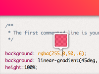 Mystery upcoming project UI detail: CSS color preview