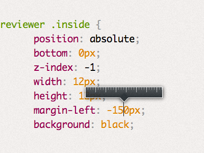 Mystery upcoming project UI detail: Length preview css ui code dabblet