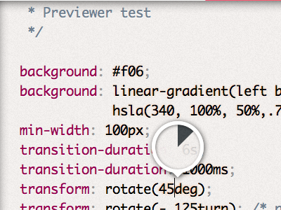 Mystery upcoming project UI detail: Angle preview css ui dabblet
