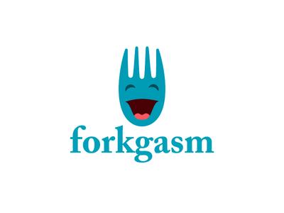 forkgasm logo food logo