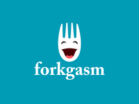 forkgasm logo inverted