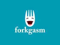 forkgasm logo inverted