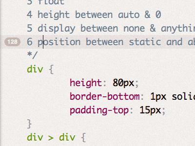 Coming in dabblet v1.1: Current line highlight & line number dabblet ui