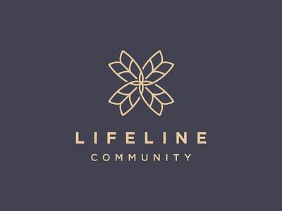Lifeline Community logo branding cross church community lifeline wheat grain flower truth growth