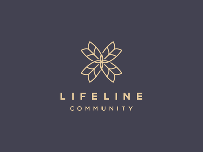 Lifeline Community logo branding cross church community lifeline wheat grain flower truth growth