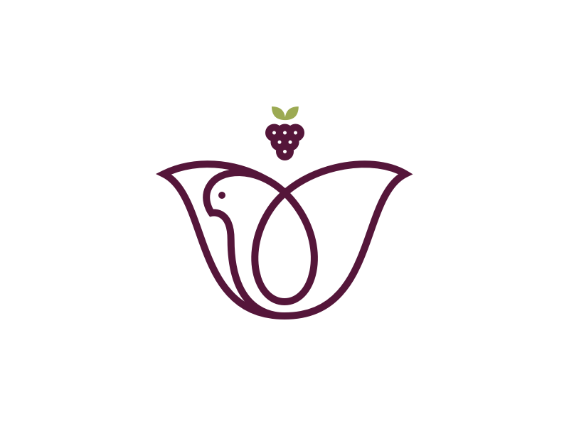 The Vineyard spirit tulip flower vine grapes dove bird church logo