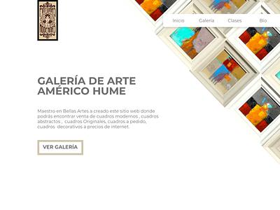 Hume Art Gallery website redesign. artist ux webdesign web ui design
