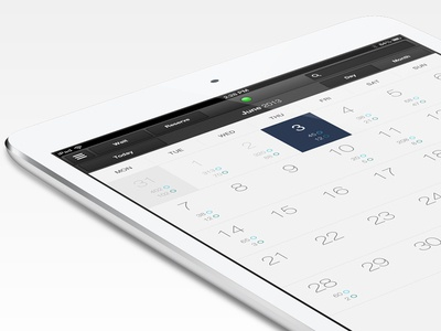 iOS7 Inspired Month Calendar