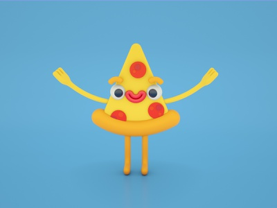 Extra pepp, please. character octane c4d cute 3d art 3d illustration 3d illustration character design pepperoni pizza pizza pepperoni