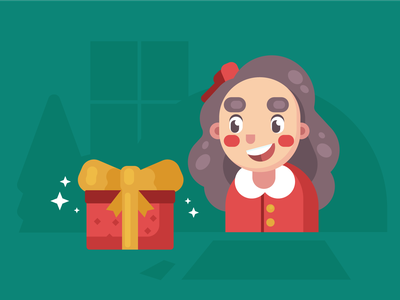 Giving is better than receiving! holidays gift christmas flat design presents