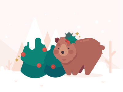 Chairman Mom - Holiday Bear holly homepage yule christmas pines snow holiday mama bear mama bear