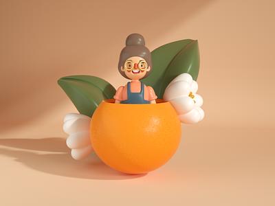 Morisoñando Despierta octane 3d c4d character design illustration dominican orange