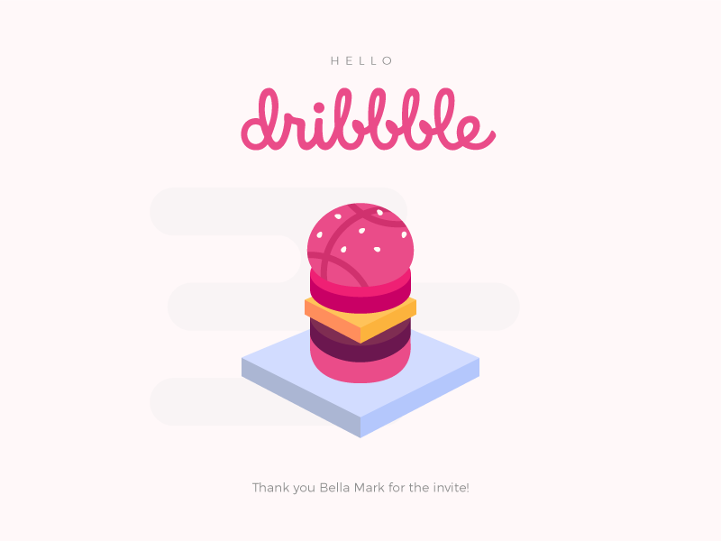 Care for a burger? debut isometric burger