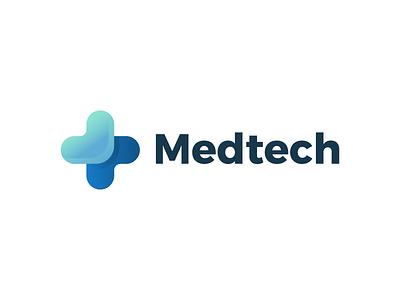 Medtech - Logo medical design medicine medical care gradient icon branding medical logo gradient cross medical